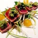 Seared rare yeloow fin tuna , avocado, sashimi