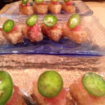 Crispy rice with tuna tartare